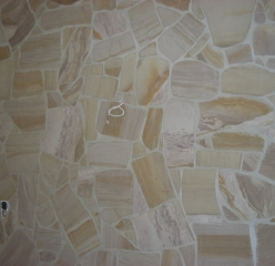 Flexible sandstone by YTTERSTONE® as a wall covering in the interior